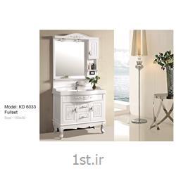 عکس کمد حمام و توالتکابینت تمام pvc دستشویی و حمام مدل KD 6033