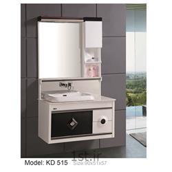 عکس کمد حمام و توالتکابینت تمام pvc دستشویی و حمام مدل KD 515