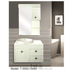 عکس کمد حمام و توالتکابینت تمام pvc دستشویی و حمام مدل 5002 T