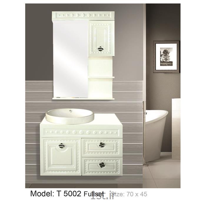 کابینت تمام pvc دستشویی و حمام مدل 5002 T
