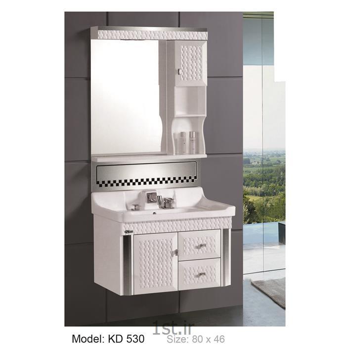 عکس کمد حمام و توالتکابینت تمام pvc دستشویی و حمام مدل KD 530