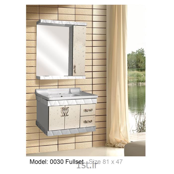 عکس کمد حمام و توالتکابینت تمام pvc دستشویی و حمام مدل 0030