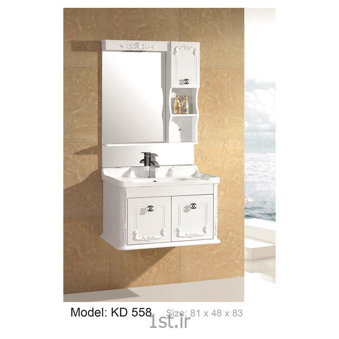 عکس کمد حمام و توالتکابینت تمام pvc دستشویی و حمام مدل KD 558