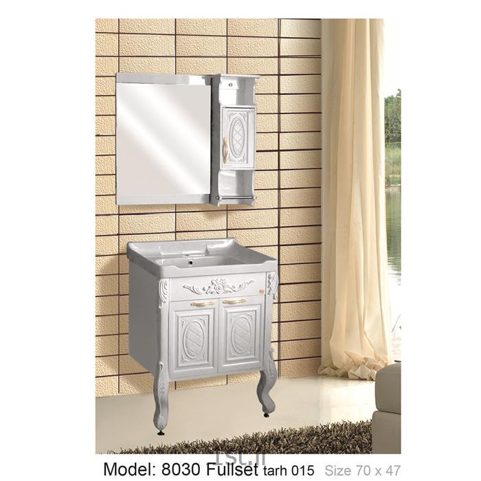 عکس کمد حمام و توالتکابینت تمام pvc دستشویی و حمام مدل 8030