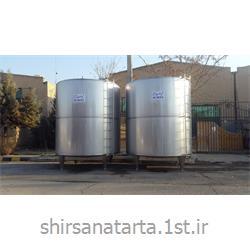 مخزن استنلس استیل ذخیره آب 20000 لیتری