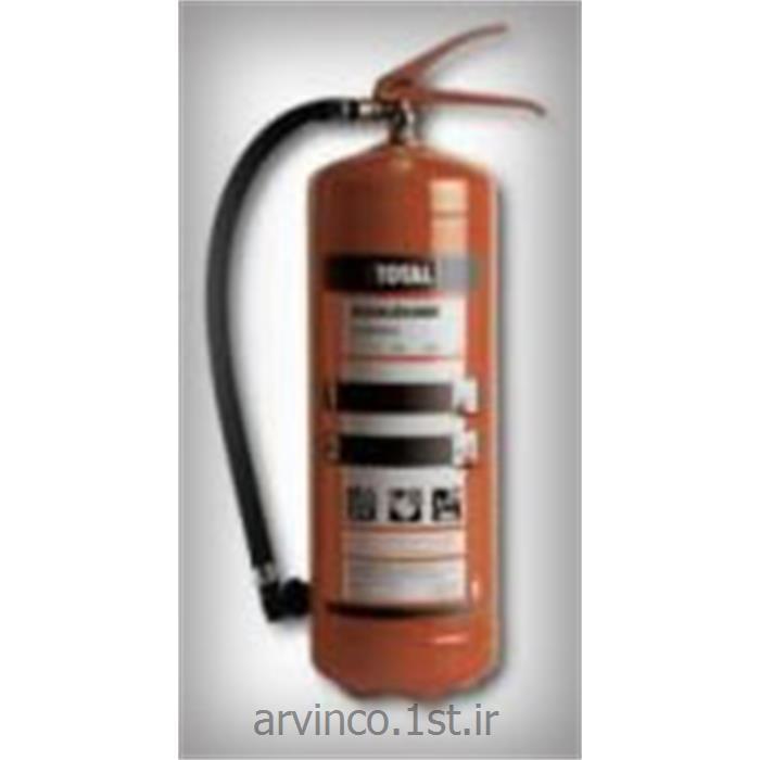 عکس کپسول آتش نشانی پودر و گازکپسول خاموش کننده آتش نشانی 6 کیلویی پودر و گاز توتال
