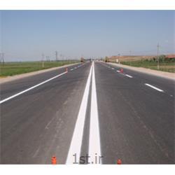 خط کشی محوری با رنگ سرد ترافیکی به صورت ممتد