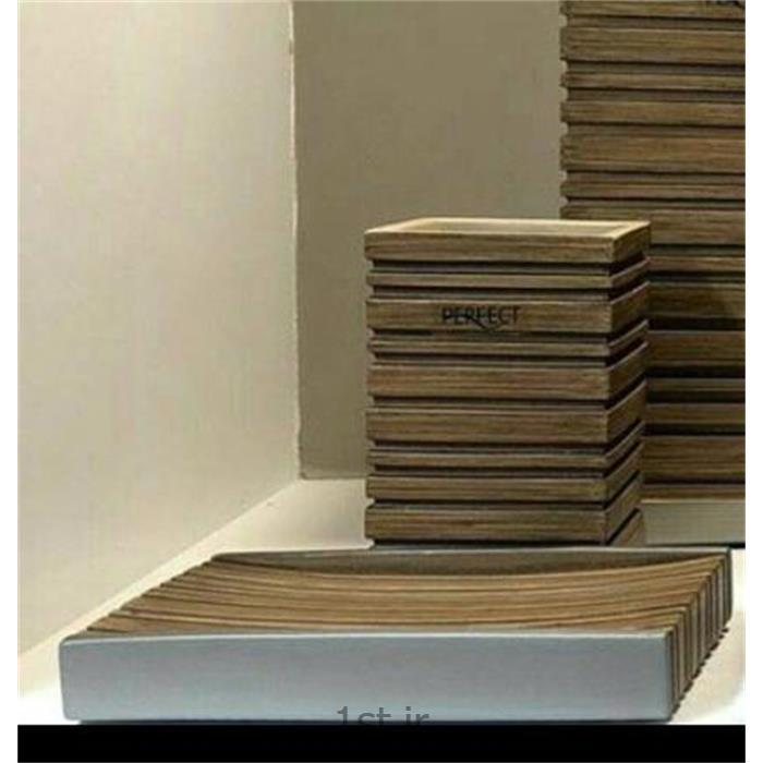 ست سرویس بهداشتی 6 پارچه رزین مدل چوب