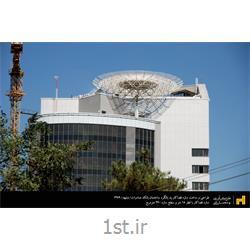 عکس سازه فضاکارطراحی و ساخت سازه فضاکار پد بالگرد بانک صادرات مشهد