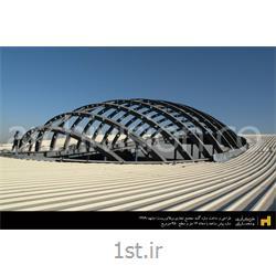 طراحی و ساخت گنبد مجتمع تجاری ویلاژتوریست مشهد
