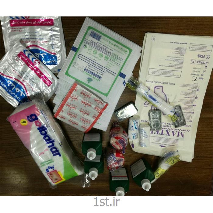 عکس تجهیزات کلینیک و اورژانسلوازم داخلی جعبه کمکهای اولیه