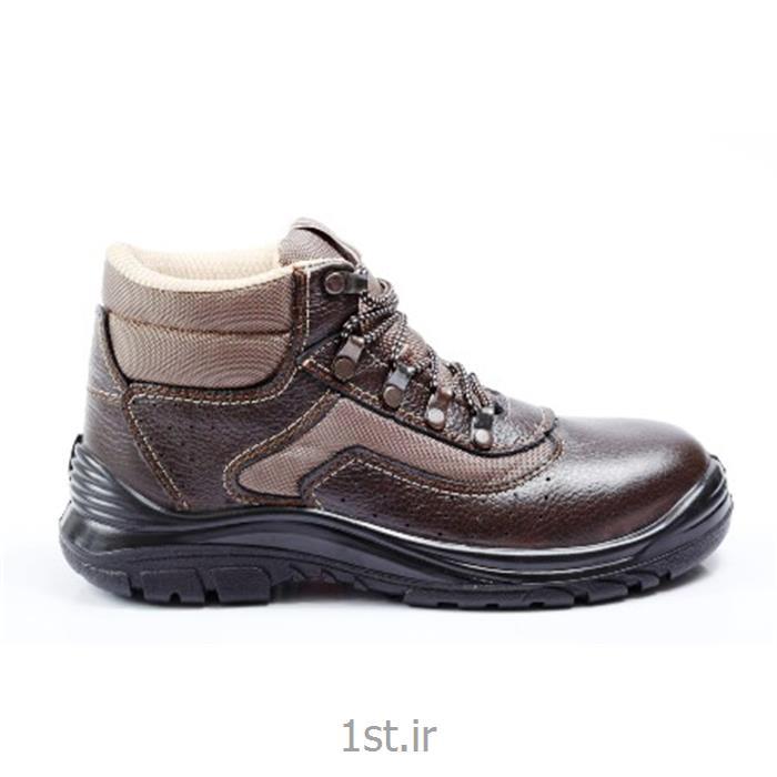 کفش ایمنی ریما چرم قهوه ای