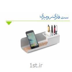 عکس نگهدارنده برگه یادداشت و نگهدارنده کارت ویزیتست رومیزی جا خودکاری و موبایل کاویا