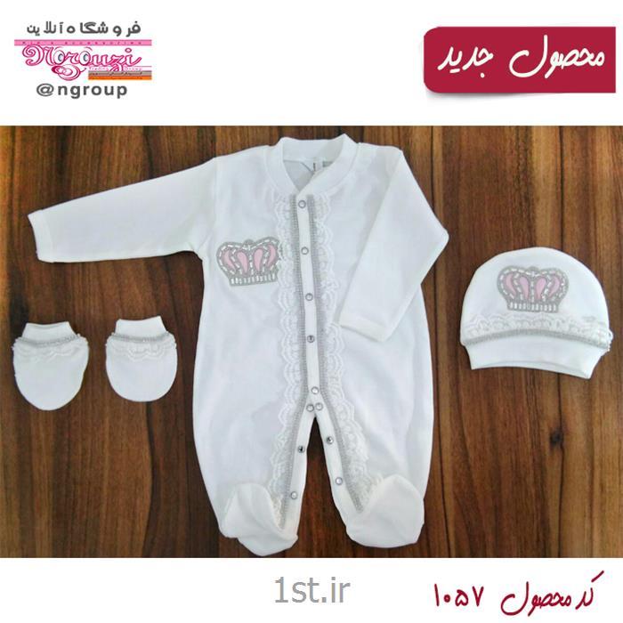 عکس سرهمی نوزادست لباس برند eda babay محصول کشور ترکیه