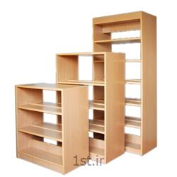 قفسه کتاب چوبی یکطرفه و دو طرفه