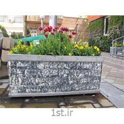 عکس گلدان گلگلدان مستطیل فایبر گلاس مدل گلسنگ A کد F311