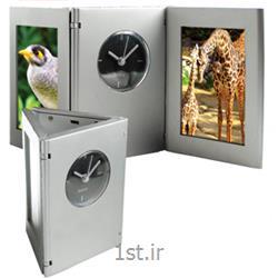 ساعت رومیزی تبلیغاتی با 2 قاب عکس مدل 2114