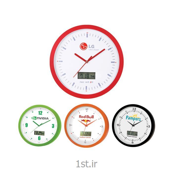 ساعت دیواری آنالوگ (عقربه ای) تبلیغاتی 5158 با تقویم شمسی