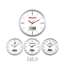 ساعت دیواری تبلیغاتی 5160 مدل آلومینیوم با تقویم دیجیتالی شمسی