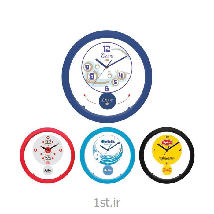ساعت دیواری تبلیغاتی 5154Aدایره ای پاندول دار پلاستیکی با قابلیت چاپ روی پاندول