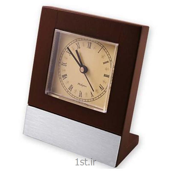 ساعت رومیزی چوبی چهار گوش