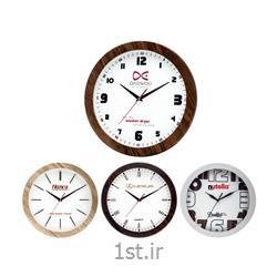 ساعت دیواری تبلیغاتی دایره ای چوبی آنالوگ مدل 5164