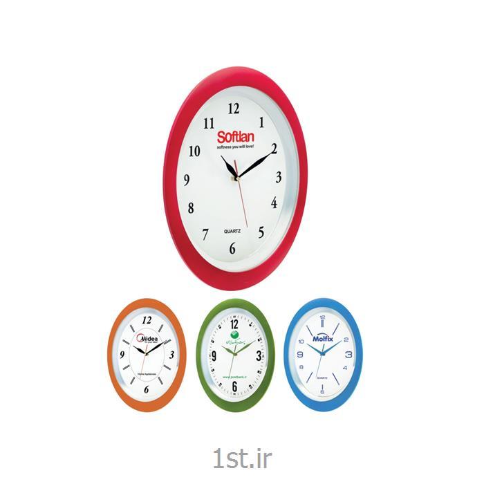 عکس ساعت دیواریساعت دیواری تبلیغاتی دایره ای آنالوگ مدل 5163A