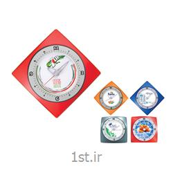 ساعت دیواری تبلیغاتی 5150چهارگوش پلاستیکی چاپ اعداد روی قاب