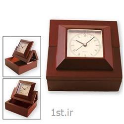 ساعت رومیزی چوبی فانتزی با جا یادداشتی