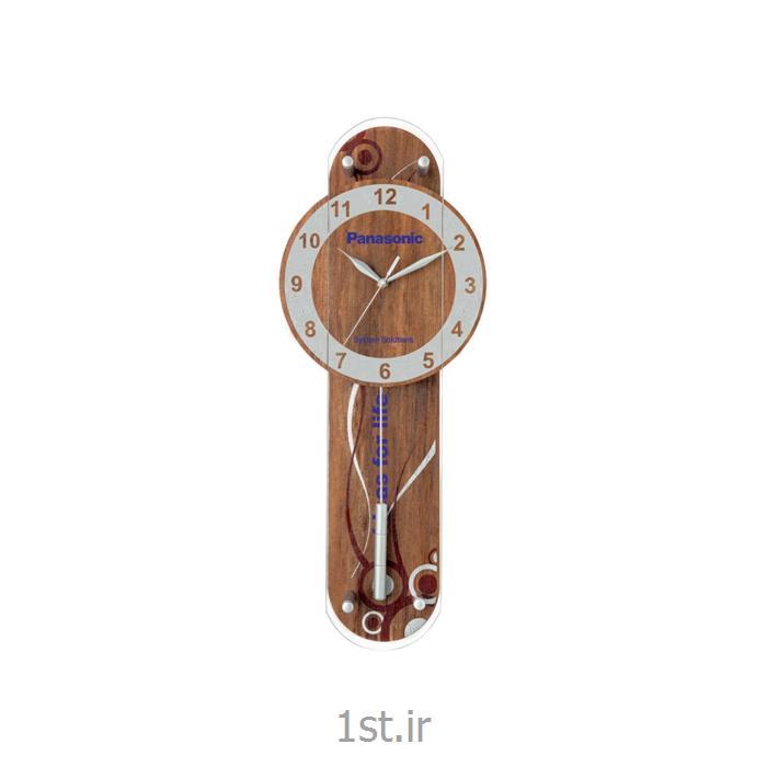 ساعت دیواری تبلیغاتی چوبی پاندول دار آنالوگ مدل 5170