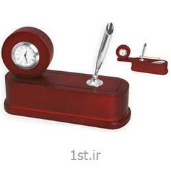 ساعت رومیزی چوبی جاقلمی دار