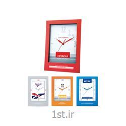 ساعت دیواری تبلیغاتی 5155 چهارگوش پلاستیکی با قابلیت چاپ روی قاب