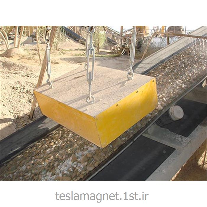 عکس دستگاه جداساز مواد معدنیسپراتور اور باند دائم دستی (بلاک مگنت) مدل TSM 500-20