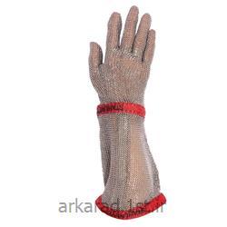 دستکش ضد برش فلزی ( قصابی ) ساق بلند آلمانی