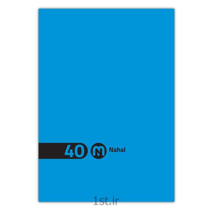 دفتر ۴۰ برگ سیمی طلقی  تک رنگ مکث نوت  کد 3422