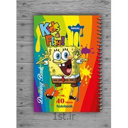 دفتر نقاشی ۴۰ برگ سیمی کارتونی  مکث نوت کد  3453