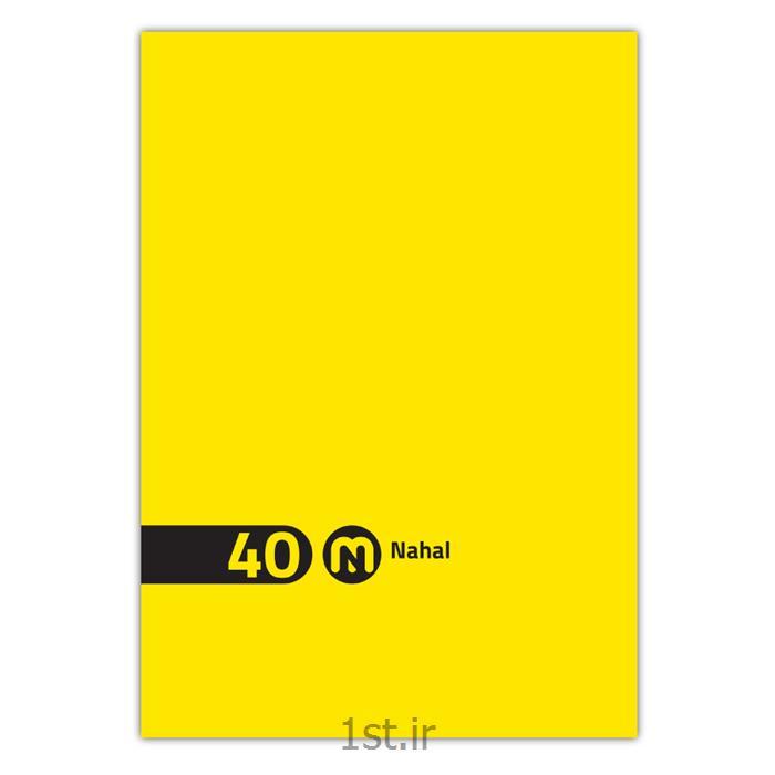 دفتر ۴۰ برگ سیمی طلقی  تک رنگ مکث نوت  کد ۳۴۲۱