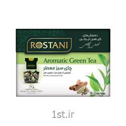 دمنوش گیاهی چای سبز معطر رستنی بسته 16 عددی