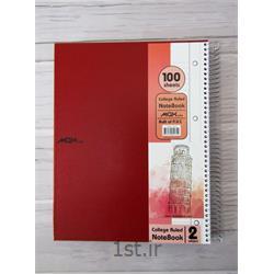 دفتر ۱۰۰ برگ سیمی کلاسوری جلد A4  P.V.C  مکث نوت کد 9175