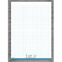 عکس کاغذ و مقواکاغذ ۱۰۰ برگ A4 شطرنجی ۱۰ MM مکث نوت کد 9774