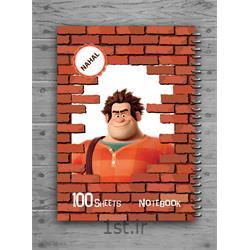 دفتر ۱۰۰ برگ سیمی کارتونی طلقی مکث نوت کد 3111