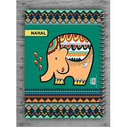 دفتر نقاشی فیلی با کاغذ مومی مکث نوت کد 3457
