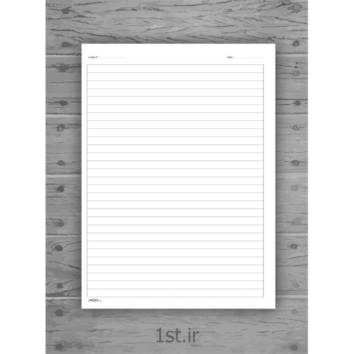 کاغذ خط دار ۱۰۰ برگی ۱۸*۲۵ مکث نوت  کد 9785