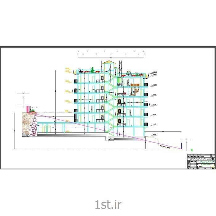 عکس طراحی ساختمانطراحی آپارتمان ویلایی میگون