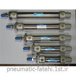 جک قلمی پنوماتیک استیل تیپ MA سایز 80*20 FLUIDAC