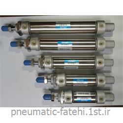 عکس سایر ابزارهاجک قلمی پنوماتیک استیل تیپ MA سایز 25*25 FLUIDAC