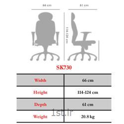 صندلی چرخدار اداری کارمندی نیلپر مدل SK730V