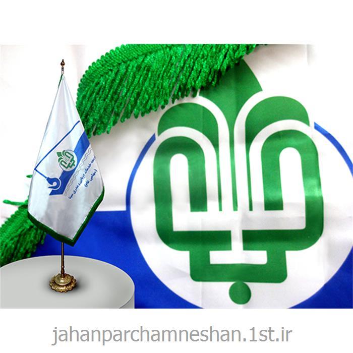 پرچم تشریفات - T96 - چاپ دیجیتال قابل شستشو روی ساتن براق آهار دار با ریشه دوبل