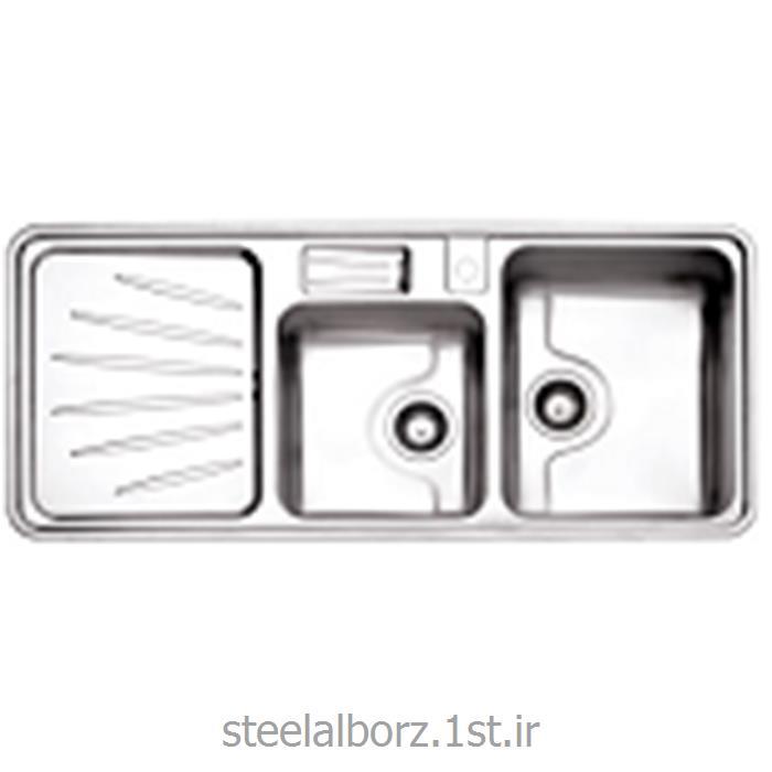 عکس سینک آشپزخانهسینک فانتزی توکار مدل 814 با جامایع استیل