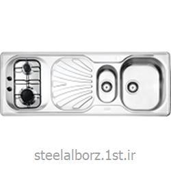 عکس سینک آشپزخانهسینک فانتزی توکار مدل 590